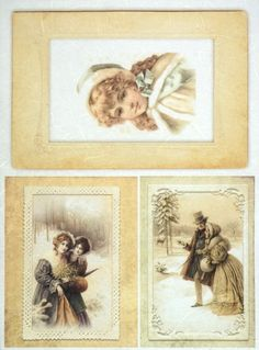 Rice Paper for Decoupage Decopatch Scrapbook Craft Sheet Vintage Winter Photos