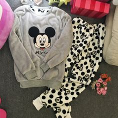 2016 Winter New Thickened Cute Sleeping Owl Coral Fleece Pajamas Home Furnishing Suit Coral Velvet Home Wear