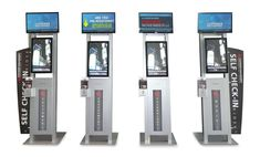 The OSI URway Sojourn series in typical trade show configuration (Self Check-in), CETW / NYC November 2012 Modular Design, Kiosk, November, Nyc, Indoor, Events, The Originals, Digital, Check