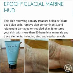 NuSkin Glacial Marine Mud works on all types of skin conditions to draw impurities out of the skin. You can also detox your whole body armpits and feet it's amazing Best Skincare Products, Pure Products, Skin Products, Beauty Products, Marine Mud Mask, Glacial Marine Mud, Dead Sea Mud, Epoch, Tinted Moisturizer