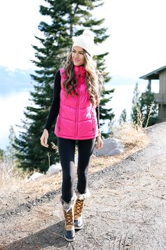 hot pink puffer vest from Neiman Marcus Last Call
