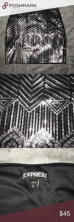 Express Sequin Skirt Worn one time! Great for parties Express Skirts Mini