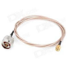 N-J to SMA-J Adapter Cable - Silver + Golden (1m-Length)  — 364.13 руб. —  Quantity 1 Color Golden + Silver Material Copper + plastic Compatible Devices SMA net card / router / AP with N-J female big antenna Cable Length 1m Interface SMA / N Application Great for antenna adapter and connection Packing List 1 x Cable