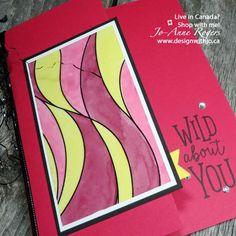 OnStage PERKS! like playing with Stampin Up Graceful Glass and Stampin Blends. Gorgeous new decorated vellum cardstock, NEW Blends colours. What I LOVE about being a Stampin' Up! demonstrator! http://www.designwithjo.ca/sneak-peek-stamp…d-stampin-blends/