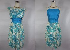 1950's/1960's Vintage Blue and White Hawaiian by vintagebluemoon, $225.00