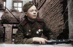 Soviet soldier in Koenigsberg.