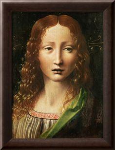 Head Of The Saviour - Leonardo Da Vinci Painting