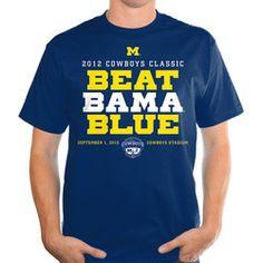 "2012 Cowboys Classic - Michigan vs Alabama - ""BEAT BAMA BLUE"" T-Shirt - Wolverine District"