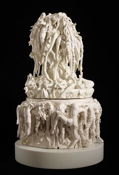 Rachel Kneebone (British, b. The Paradise of Despair, Porcelain, 37 x 23 x 24 in. x 60 x 62 cm). © the artist. Google Doodles, Auguste Rodin, Feminist Art, Abstract Sculpture, Design Art, Contemporary Art, Paradise, Sculptures, Happy Birthday