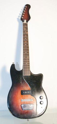 Vintage Sunburst Teisco Melody Electric Slide Guitar by daindain