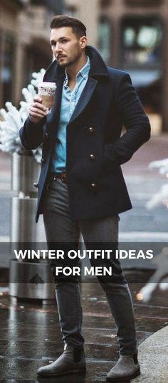 Winter outfit ideas for men #FashionableMensJackets