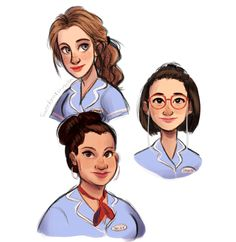 """i wanted to draw these wonderful ladies!!!!!"" - Waitress the Musical art"