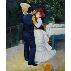 Renoir - Dance in the Country Oil Painting    One of my favorite pictures!! the origininal was vibrant.