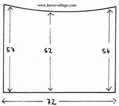 Patron de tapis de selle ( ou sous tapis ) (home made matos)