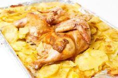 Pečené kurča so zemiakmi