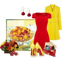 """Strawberry And Mango Fruit Salad"" by mary-rt on Polyvore"