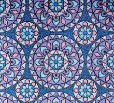 Retro Tapet Lilla mosaik