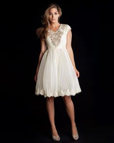 I would consider getting married in this dress, need I say more?? WILZ - Embellished lace dress