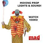 LARGE 6ft Zombie Clown Animated Figure-MOVING Halloween Decoration SCARY PRESALE