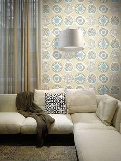 Papel pintado de aspecto nórdico para crear ambientes ligeros. Colección Lavmi