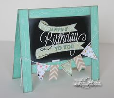 Today is my hubby's birthday so I'm here to share the card I made for him using the new stamp set - Another Great Year from the Occasions Catalog. Isn't this card fun!? I used the new Hardwood Backgro