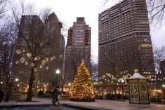 Christmas in my beautiful Rittenhouse Square; shall arrive before I'm ready!