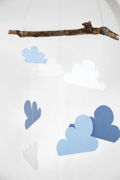 Twig and cloud baby mobile