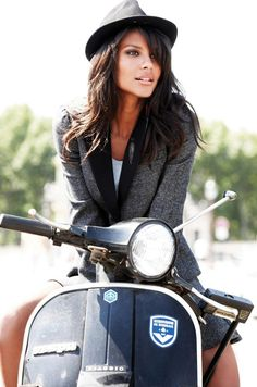 Italian Vespa and a beautiful girl