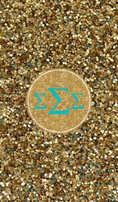 Glitter/Sigma Sigma Sigma iPhone monogram background by College is Love