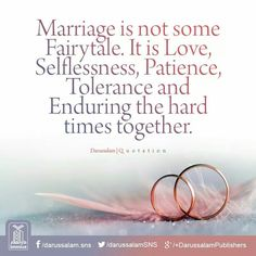 Islamic Quotes on Sabr/Patience. Islam is the complete code of life. Allah SWT has given us the book of Quran for our guidance. Sabr and patience in Islam have been given great importance as it makes us pious and increases our Iman and faith in Allah SWT. Islamic Love Quotes, Islamic Quotes On Marriage, Good Marriage Quotes, Muslim Couple Quotes, Islam Marriage, Muslim Love Quotes, Love In Islam, Marriage Life, Islamic Inspirational Quotes