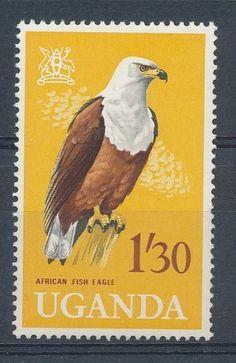 Fish Eagle 1/30c Uganda 1965