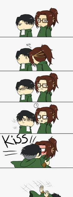 This is so cute! *kisses levi's cheek* I knew you loved me. *giggles*