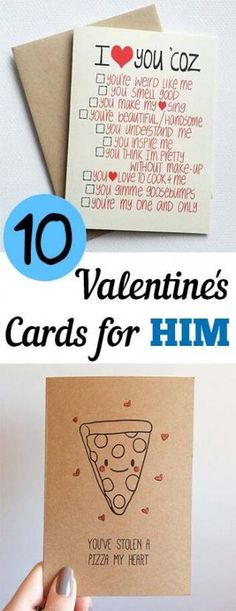 The best DIY projects & DIY ideas and tutorials: sewing, paper craft, DIY. DIY Valentine's Day Gifts : 10 Valentines Day Cards for Him More -Read Cards Diy, Diy Valentine's Cards For Him, Diy Gifts For Him, Cheesy Valentines Day Cards, My Funny Valentine, Valentine Day Crafts, Valentine Ideas, Valentines Day Gifts For Him Creative, Valentines Day Gifts For Him Boyfriends