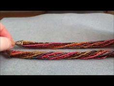 Make a Helix Spiral Stitch Bracelet - YouTube