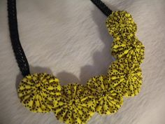 Fabric  Necklace by ForAllGirls on Etsy, $12.00
