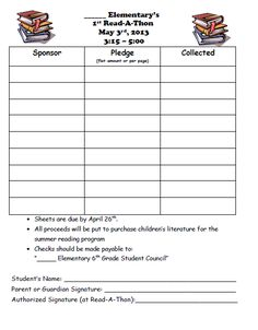 WalkAThon Pledge Forms  Student Council    Pta