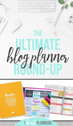 If you want to make a concrete plan for your blog and business, you've come to the right place. I've compiled the ultimate list of blog planners, so you can find the one that suits you. - iheartplanners.com