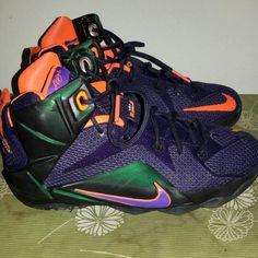 watch e6843 d0d58 Shop Women s LeBron James Black Purple size 6 Athletic Shoes at a  discounted price at Poshmark. Description  Black Purple Orange LeBron  perfect condition ...