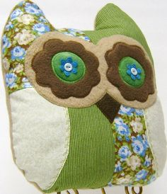 Handmade  Soft and Cuddly Owl Pillow w/Wings by kalenescustomgifts, $23.00