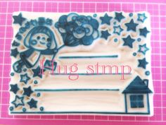 Anything-You-Want G Tsu  even in the message frame to address frame! Eraser Hanko Rubber Stamp