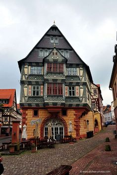 Oldest German Hotel still in operation in Miltenberg, Bavaria, Germany. Places Around The World, The Places Youll Go, Travel Around The World, Places To Visit, Around The Worlds, Visit Germany, Germany Travel, German Architecture, Beau Site