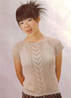 Светлая футболка | Вязание и рукоделие