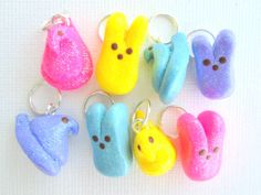PEEPS Stitch Markers Set of 4 Handmade from by TheClayBeanCo #ExpressYourPeepsonality