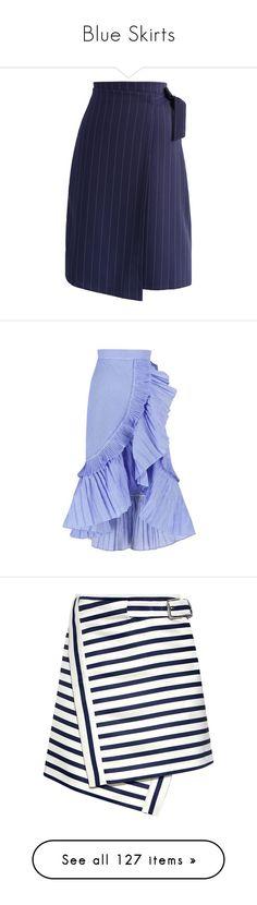 """Blue Skirts"" by kikikoji ❤ liked on Polyvore featuring skirts, blue, chicwish skirt, blue wrap skirt, striped skirts, asymmetrical wrap skirt, navy blue skirts, accordion pleated skirt, blue a line skirt and blue pleated skirt"