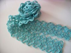 Crochet Scarf from Vintage Lace Pattern by diddledaddledesigns, via Flickr