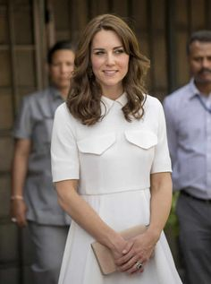Kate made a nod to the United Kingdom with her Mulberry clutch.