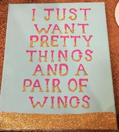 Pi Beta Phi angel craft -  I just want pretty things and a pair of wings! #piphi #pibetaphi