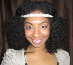 twist-out with a headband.