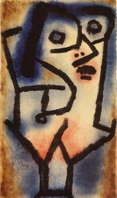 Klee had echter een groot gevoel voor ironie dat hem altijd. Ook in de ambiance van het Bauhaus waar Klee onderwijzer was tussen 1920 en 1931, verviel hij niet in het herhalen van starre didactische voorbeelden, maar bewaarde hij onveranderd zijn kinderlijke en een beetje dadaïstische onderliggende humor, evenwel altijd licht en harmonieus in de schoonheid van de kleuren.
