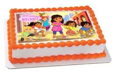 Dora and Friends 1 Edible Birthday Cake Topper OR Cupcake Topper, Decor Edible Cake Toppers, Birthday Cake Toppers, Cupcake Toppers, Cupcake Cakes, Dora And Friends, Friends Cake, Edible Printing, Dora The Explorer, Cake Images